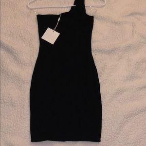 Meshki Black One Shoulder Dress